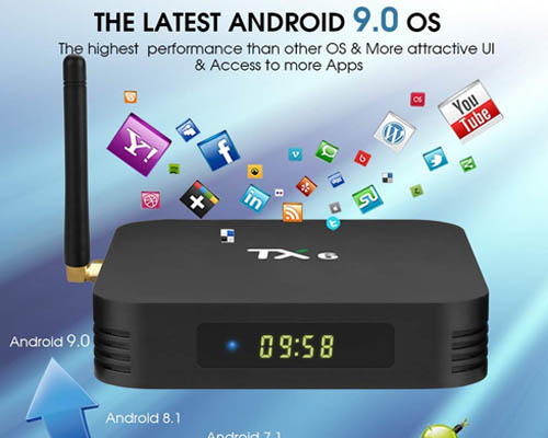 PHANTIO TX6 Android 9.0 Smart TV Box